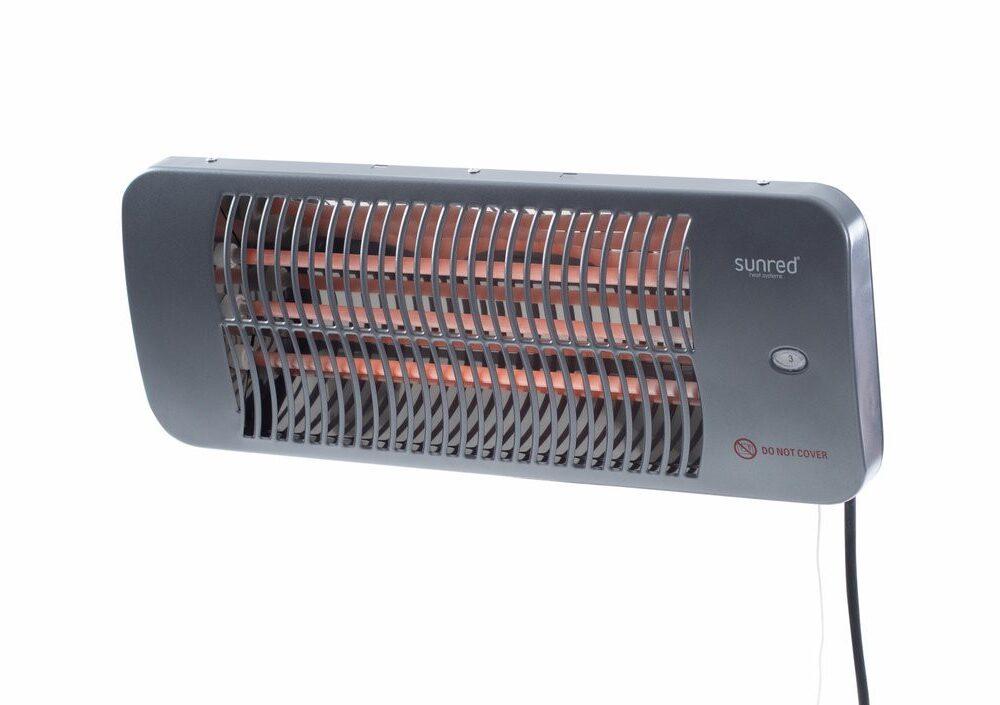 Lugo 2000 watt terrassevarmer til væg