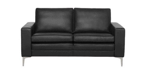 2 pers copenhagen lædersofa i sort